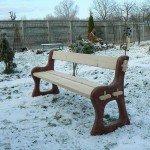 Скамейка фигурная
