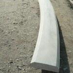 Перила радиальные. Длина 1640 мм, ширина 200 мм, высота 60 мм, вес 38 кг - 1600 руб. за 1 шт.