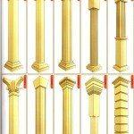 схема: колонны, пилястры
