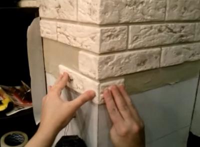 фото декоративного камня - укладка плитки