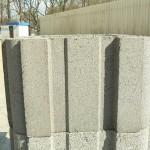 Фотография бетонного блока, из которого собирается заборный столб