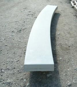 радиальное основание лестницы из бетона