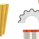 Размеры и схема полуколонны из пенополистирола ТКЛ14