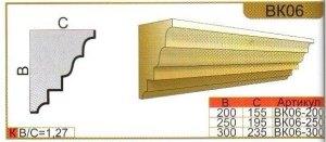 Карниз из пенополистирола для декора фасадов ВК06