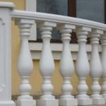Радиальное ограждение балкона с балясинами