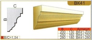 Карниз из пенополистирола для фасада ВК41