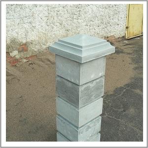 Оголовник (козырек для столба) 400х400 пирамида