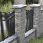 Забор из бетонных блоков фото 3
