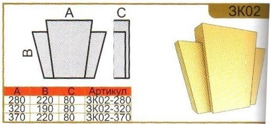 параметры замкового камня зк02