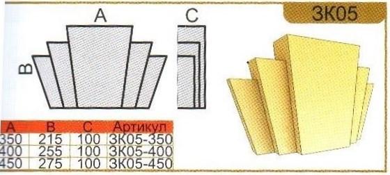 параметры замкового камня ЗК05