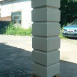 заборный столб из блоков