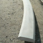 Перила радиальные. Длина 1640 мм, ширина 200 мм, высота 60 мм, вес 38 кг - 1700 руб. за 1 шт.