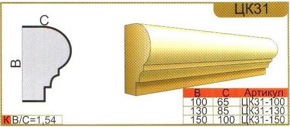 Характеристики карниза из пенополистирола ЦК31