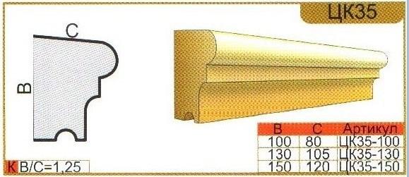 Характеристики карниз ЦК35