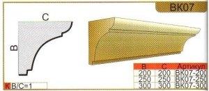 Карниз из пенополистирола для декора фасадов ВК07