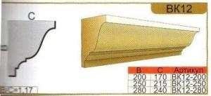 Карниз из пенополистирола для фасада ВК12