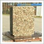 уличный вазон из мытого бетона