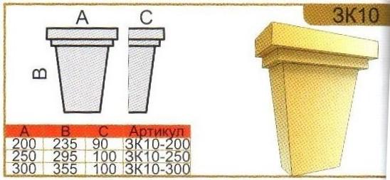 Замковые камни ЗК10