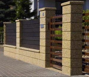Забор из бетонных блоков - фото 2