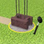 Монтаж каменного блока