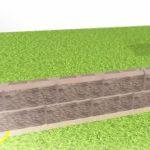 Монтаж каменного забора из бетонных блоков