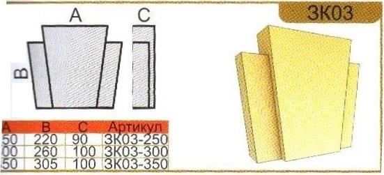 параметры замкового камня зк03