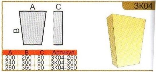 параметры замкового камня зк04
