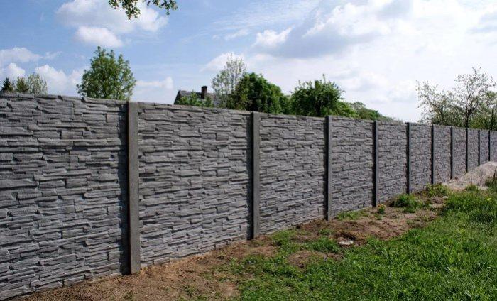 бетонный забор из секций