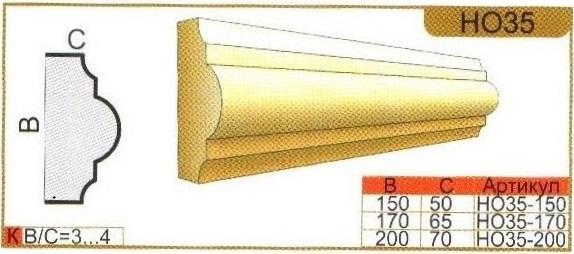 размеры оконного наличника НО35