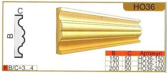 размеры оконного наличника НО36