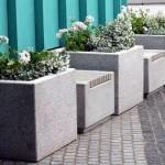 Вазоны из мытого бетона