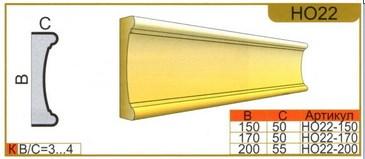 размеры наличника НО22