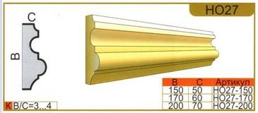 размеры наличника НО27