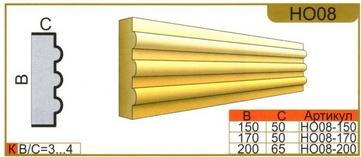 размеры наличника НО08