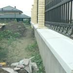 установленные оголовники из бетона